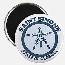 St. Simons Island - Sand Dollar Design. Magnet