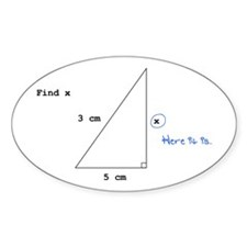Find X Oval Decal