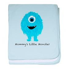 Mommys Monster Blue baby blanket