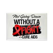 Not Going Down AIDS Rectangle Magnet