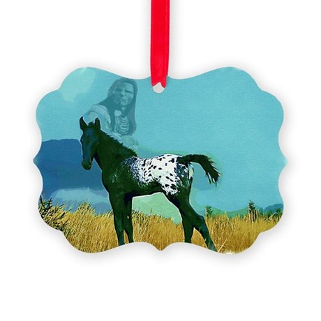 Nez Perce Pony Picture Ornament