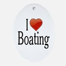 I Love Boating Ornament (Oval)