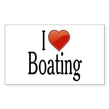I Love Boating Decal