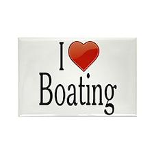 I Love Boating Rectangle Magnet