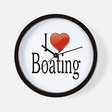 I Love Boating Wall Clock