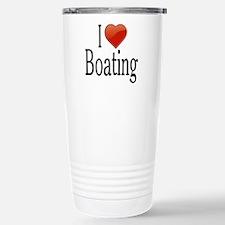 I Love Boating Stainless Steel Travel Mug