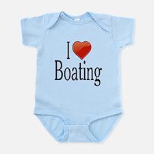 I Love Boating Infant Bodysuit