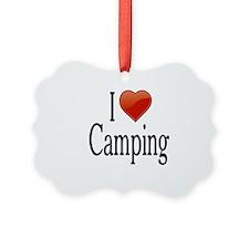 I Love Camping Ornament