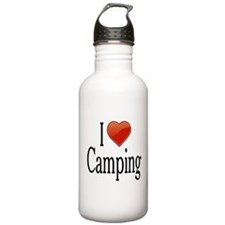 I Love Camping Water Bottle