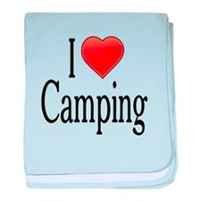 I Love Camping baby blanket