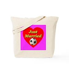 Just Married Soccur Theme Tote Bag