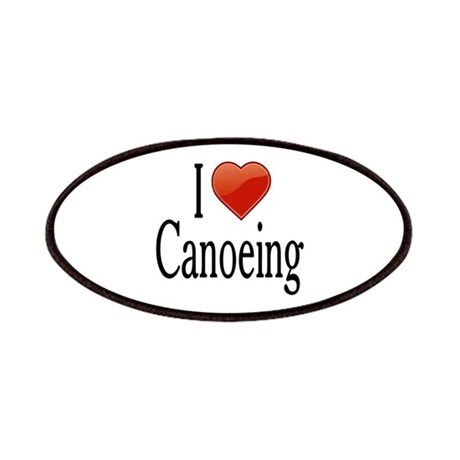 I Love Canoeing Patches