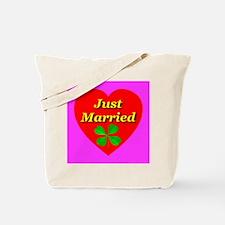 Just Married Shamrock Irish T Tote Bag