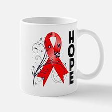 Hope Flower Ribbon AIDS Mug