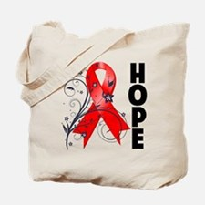 Hope Flower Ribbon AIDS Tote Bag