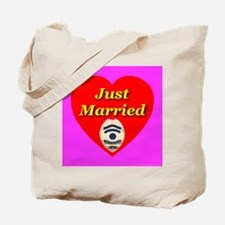Just Married Police Officer B Tote Bag