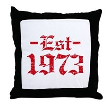 Established in 1973 Throw Pillow
