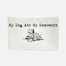 My Dog Ate My Homework Rectangle Magnet
