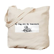 My Dog Ate My Homework Tote Bag