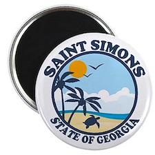 St. Simons Island - Beach Design. Magnet