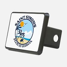 St. Simons Island - Beach Design. Hitch Cover