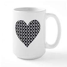 Chain mail heart Mug