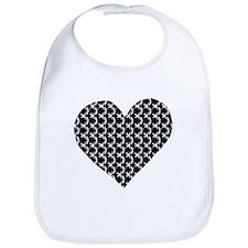 Chain mail heart Bib