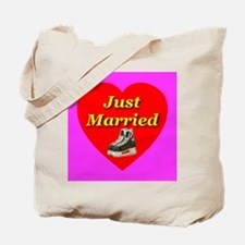 Just Married Hockey Ice Skati Tote Bag