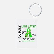 I Wear Lime 43 Lymphoma Keychains