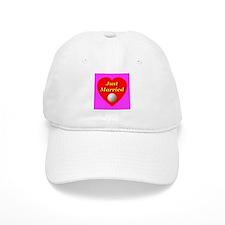 Just Married Golf Theme Baseball Cap