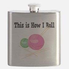 How I Roll Yarn.png Flask