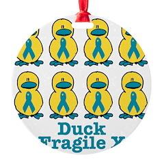 fragile x ducks.png Ornament