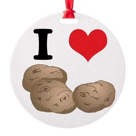 potatoes.jpg Round Ornament
