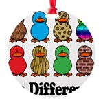 Be Different Ducks.png Round Ornament