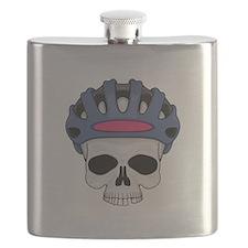 cycling skull copy.jpg Flask