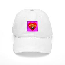 Just Married Baseball Theme Baseball Cap