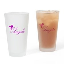 Team Angela Drinking Glass