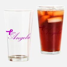 Team Angela Drinking Glass