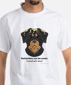 """""""Rottweilers can be sweet"""" T-Shirt"""