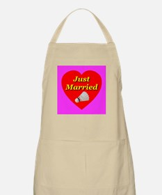 Just Married Badminton Theme BBQ Apron