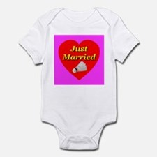 Just Married Badminton Theme Infant Creeper