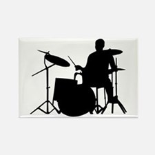Drummer Rectangle Magnet (10 pack)