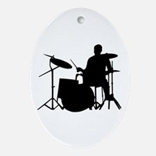 Drummer Oval Ornament