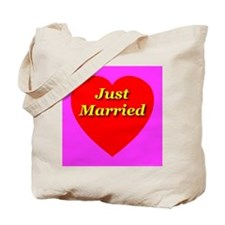 Just Married Classic Heart Tote Bag