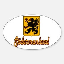 Södermanland County Oval Decal