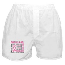 Licensed Fight Like a Girl 44.4 Boxer Shorts