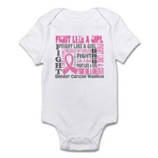 Licensed Fight Like a Girl 44.4 Infant Bodysuit