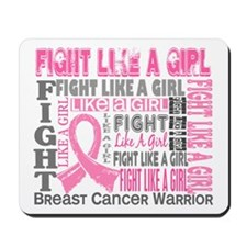 Licensed Fight Like a Girl 44.4 Mousepad