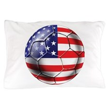 USA Soccer Ball Pillow Case