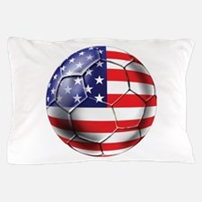 USA Soccer Ball Pillow Case